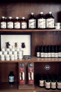 Barbería con productos naturales