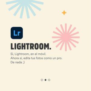 Mejores apps para editar fotos - LIGHTROOM