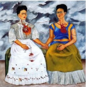 Cuadro Frida Kahlo: Las dos Fridas