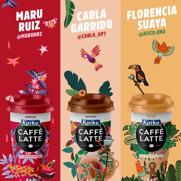 Kaiku Caffe latte concurso diseño